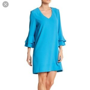 Charles Henry Shift Dress Size L, turquoise
